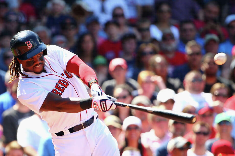 BOSTON, MA - JULY 03:  Hanley Ramirez #13 of the Boston Red Sox hits a RBI double during the fifth inning against the Los Angeles Angels at Fenway Park on July 3, 2016 in Boston, Massachusetts.  (Photo by Maddie Meyer/Getty Images) ORG XMIT: 607681047 Photo: Maddie Meyer / 2016 Getty Images