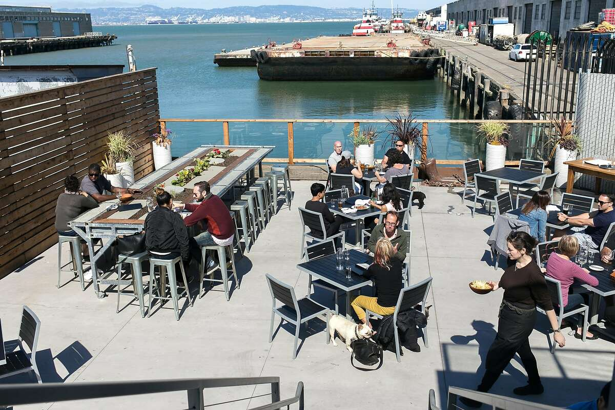 The outside patio at ATwater Tavern in S.F.