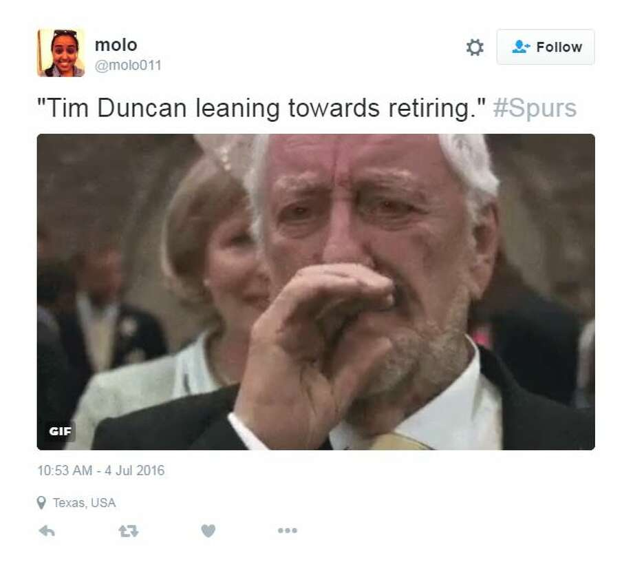 NBA Twitter kicked off the 4th of July with fireworks, announcing Kevin Duran's decision to take his talents to Golden State, followed by the probable retirement of Tim Duncan. Photo: Twitter