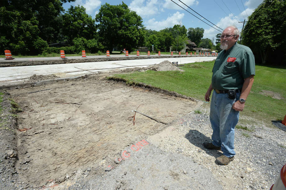 Mike Maurer expresses his frustration with his Lawn mowing repair business not having a Concord driveway for a year due to construction. The city said they did not construct one because Maurer's business has a driveway on Treadway Road. Photo taken Thursday, June 30, 2016 Guiseppe Barranco/The Enterprise Photo: Guiseppe Barranco, Photo Editor