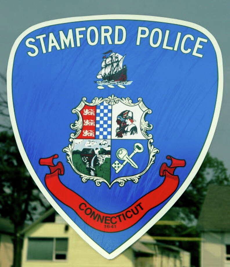 Stamford Police sheild at Headquarters at 805 Bedford Street in Stamford, Conn. on Wednesday June 8, 2011. Photo: Cathy Zuraw / ST / Stamford Advocate