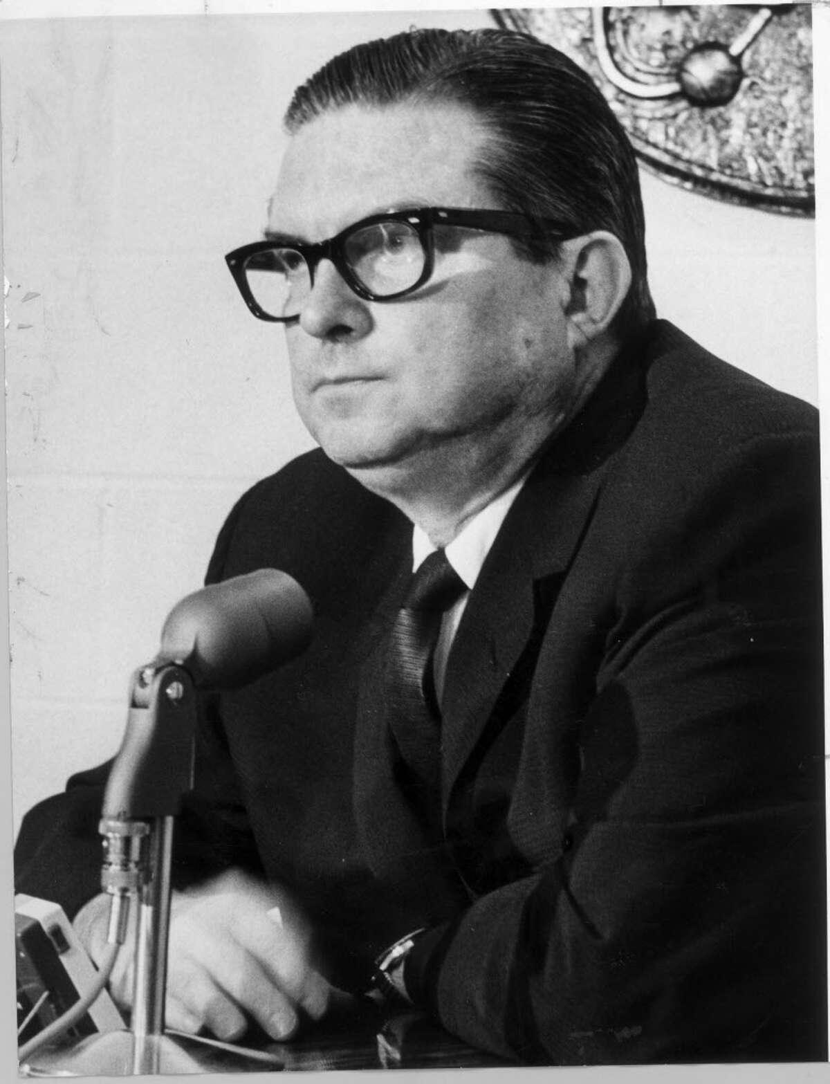 Roy Hofheinz, Houston Sports Association, July 7, 1965. Photo by Larry Evans / Houston Chronicle