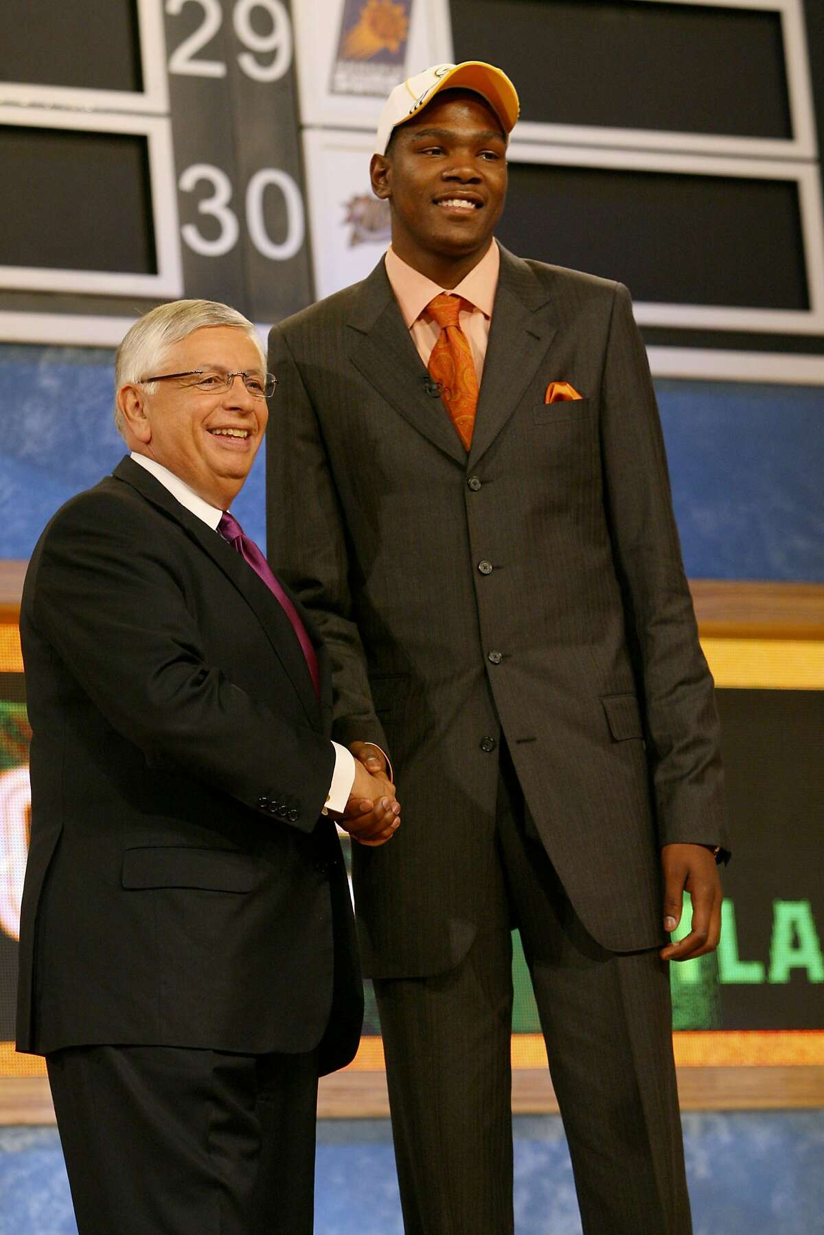 The Seattle SuperSonics selected Durant with the No. 2 pick in the 2007 NBA Draft.