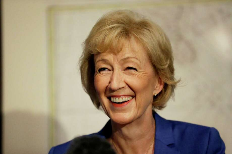 British ruling Conservative Party Member of Parliament, Andrea Leadsom, launches her campaign in London, Monday, July 4, 2016. British Prime Minister David Cameron resigned on June 24, after Britain voted to leave the European Union in a referendum. (AP Photo/Matt Dunham) ORG XMIT: LMD106 Photo: Matt Dunham / Copyright 2016 The Associated Press. All rights reserved. This m