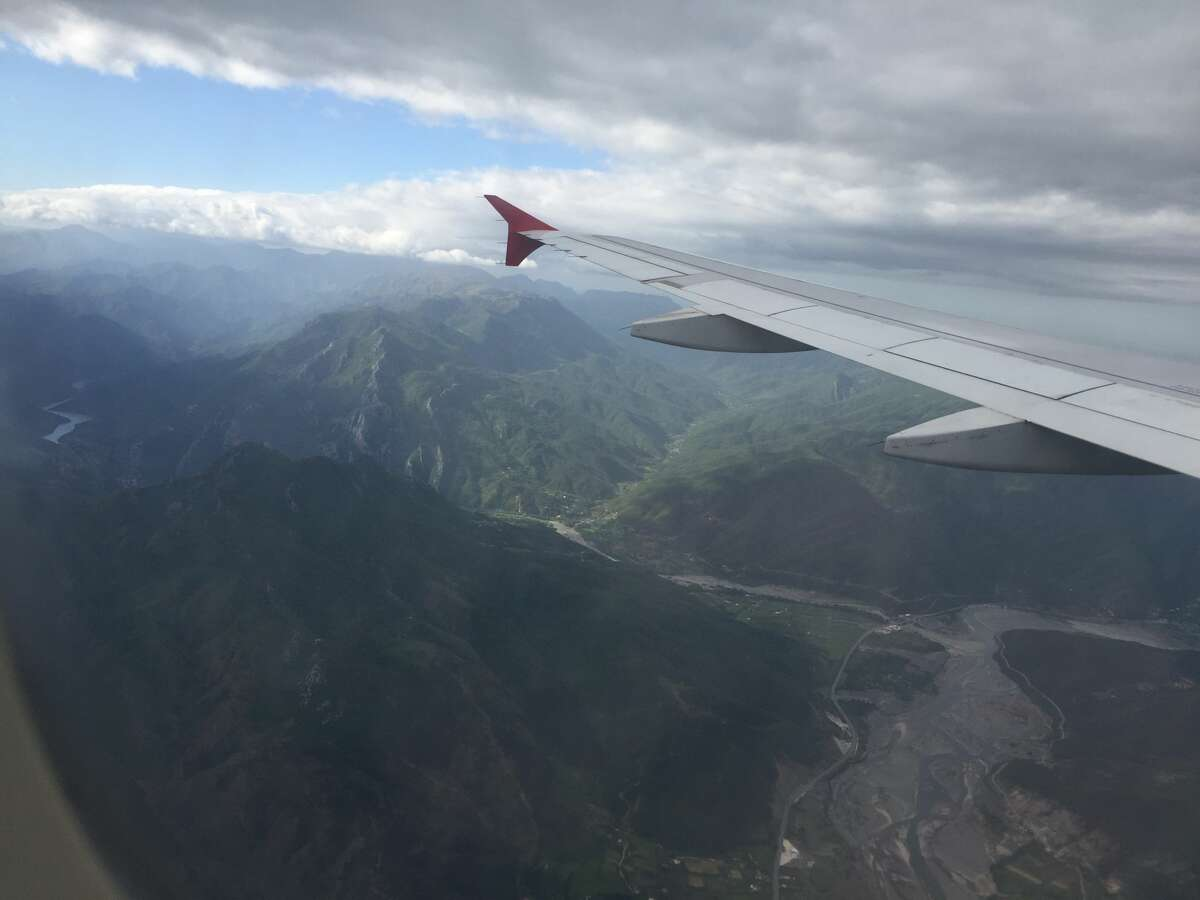 Taken about 20 minutes before landing in Albania. From mountains to beaches, this country's nature is one of its most popular attractions.