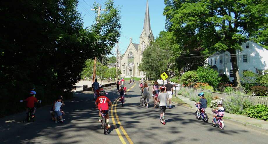 The annual 4th of July bike parade and lawn games will take place at the Pequot Library in the Southport section of Fairfield on Tuesday. Find out more.  Photo: Mike Lauterborn / For Hearst Connecticut Media / Fairfield Citizen