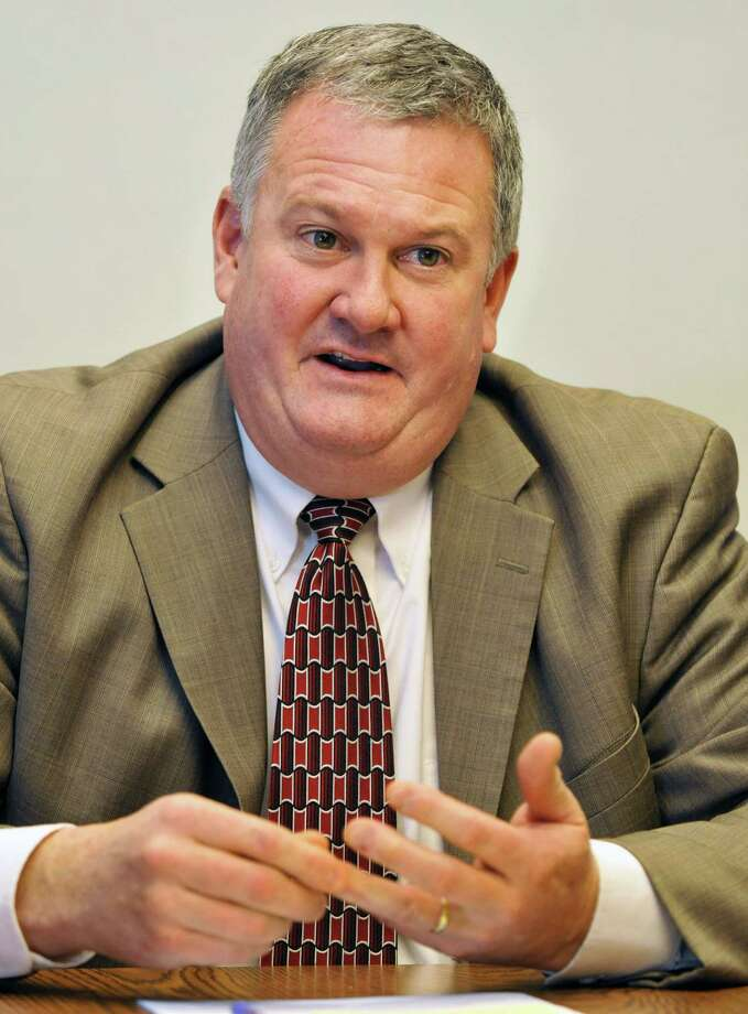 Schodack school superintendent Robert Horan discusses consolidation efforts at the Schodack Central School District offices Tuesday Jan. 10, 2012.   (John Carl D'Annibale / Times Union) Photo: John Carl D'Annibale / 00016046A