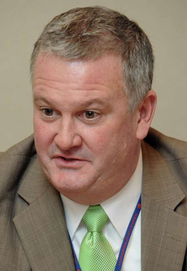Bob Horan, Schodack schools superintendent, gives his perspective on the 2013 state budget on Thursday Jan. 31,2013 in Troy, N.Y. (Michael P. Farrell/Times Union) Photo: Michael P. Farrell