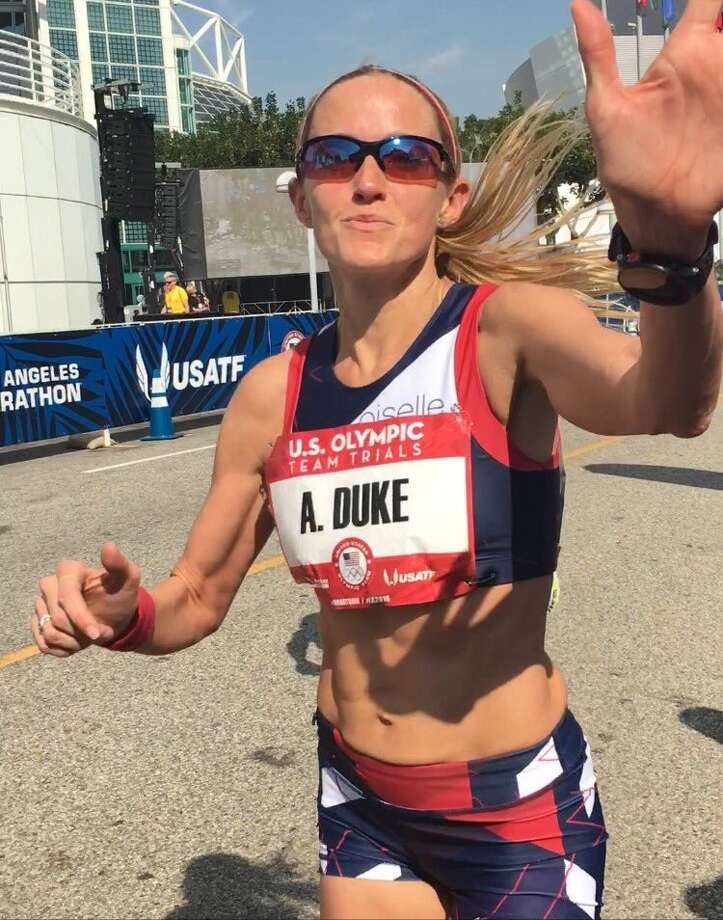 San Antonio's Andrea Duke during her February bid to make the U.S. Olympic Team.The marathoner is profiled in a captivating new movie to be shown for three months on all United Airline flights and possibly on TV later.  Photo: Courtesy
