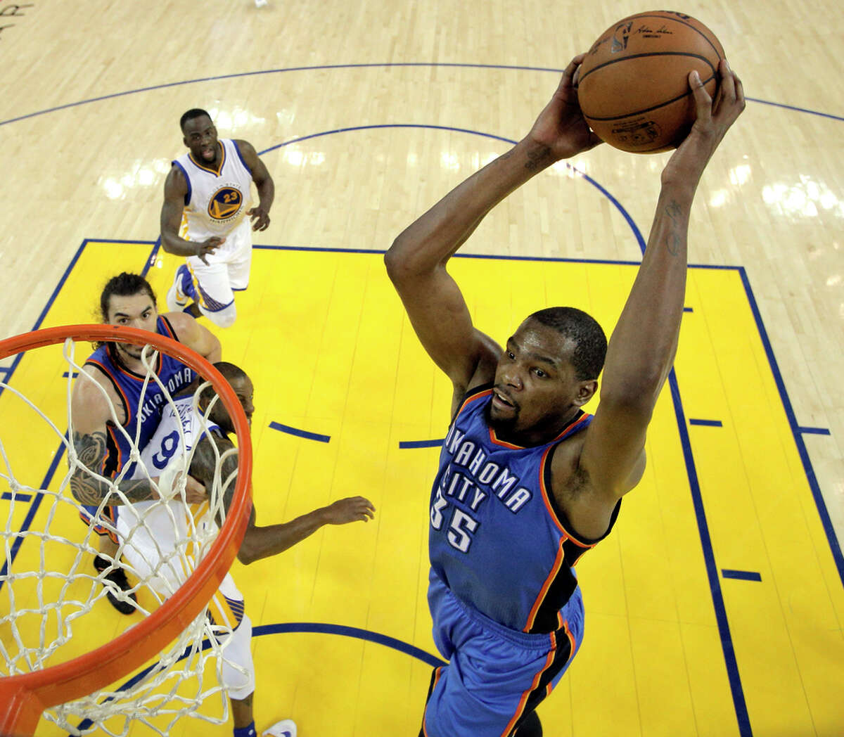 8. West also apparently told Durant that in playing with Golden State, the world would see that he was a complete player. Largely known as a scorer, West impressed upon Durant he could establish himself as a defender with the Warriors.
