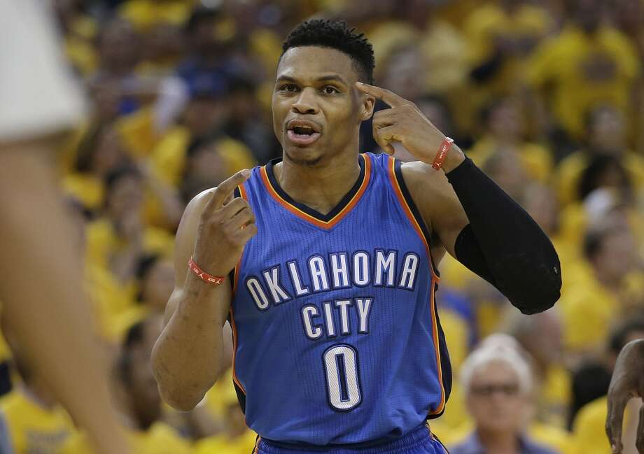 1. With Thunder guard Russell Westbrook's contract expiring next year, Durant left OKC before the Thunder unraveled. Photo: Marcio Jose Sanchez, Associated Press