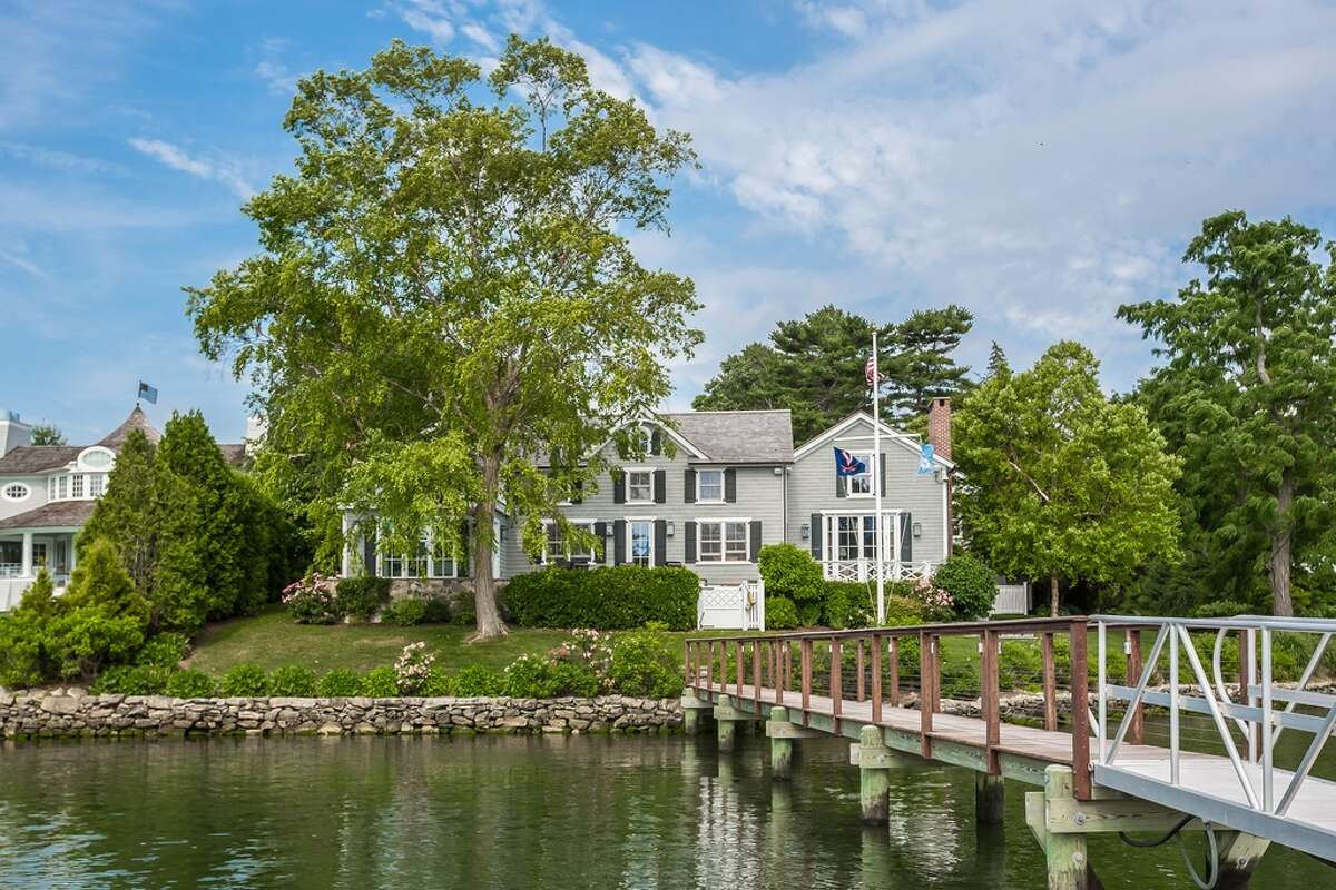 71 Five Mile River Rd, Darien, CT 06820 4 beds 5 baths Features: Sited on the Five mile River, 270-Degree water views, originally a 1700'S farmhouse and fully rebuilt in 2008, pool, 100' pier and deep water dock, private guest suite View full listing on Zillow
