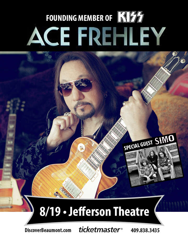 Former Kiss guitarist Ace Frehley will perform at the Jefferson Theatre on Aug. 19. (Photo provided by City of Beaumont) Photo: City Of Beaumont