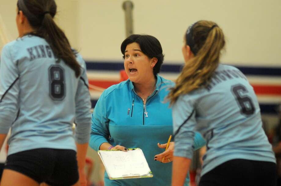 Kingwood head volleyball coach Ashley Earhart has plans to take her veteran team to their 26th consecutive playoff berth this fall, and then focus on a state run. Photo: Jerry Baker, Freelance