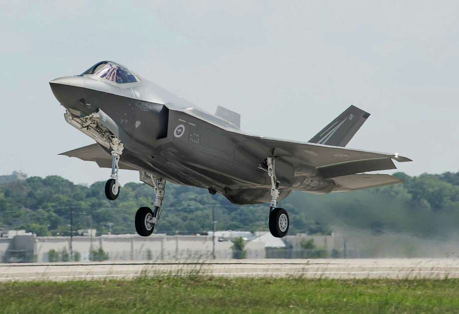 Lockheed Martin, maker of the F-35A Lightning II Joint Strike Fighter, is laying off 110 workers at its Randolph Air Force Base facility by Sept. 1. Photo: ALEX GROVES /AFP /Getty Images / LOCKHEED MARTIN PHOTO