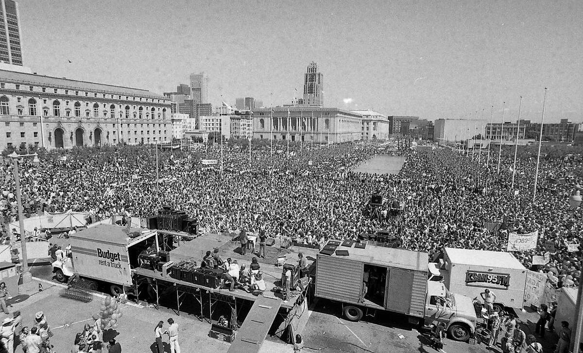 Protest at Civic Center against Nuclear Power, and Diablo Canyon Nuclear Power Plant April 7, 1979