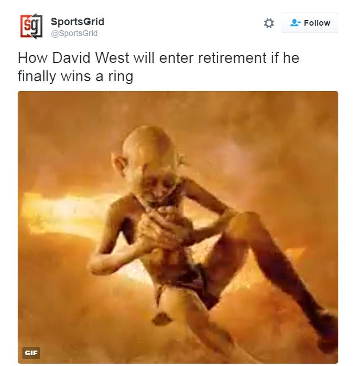 """""""How David West will enter retirement if he finally wins a ring,"""" @SportsGrid."""