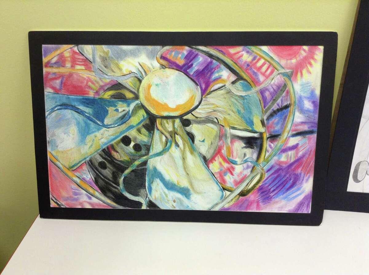 Juqua Gamble's original artwork on display.