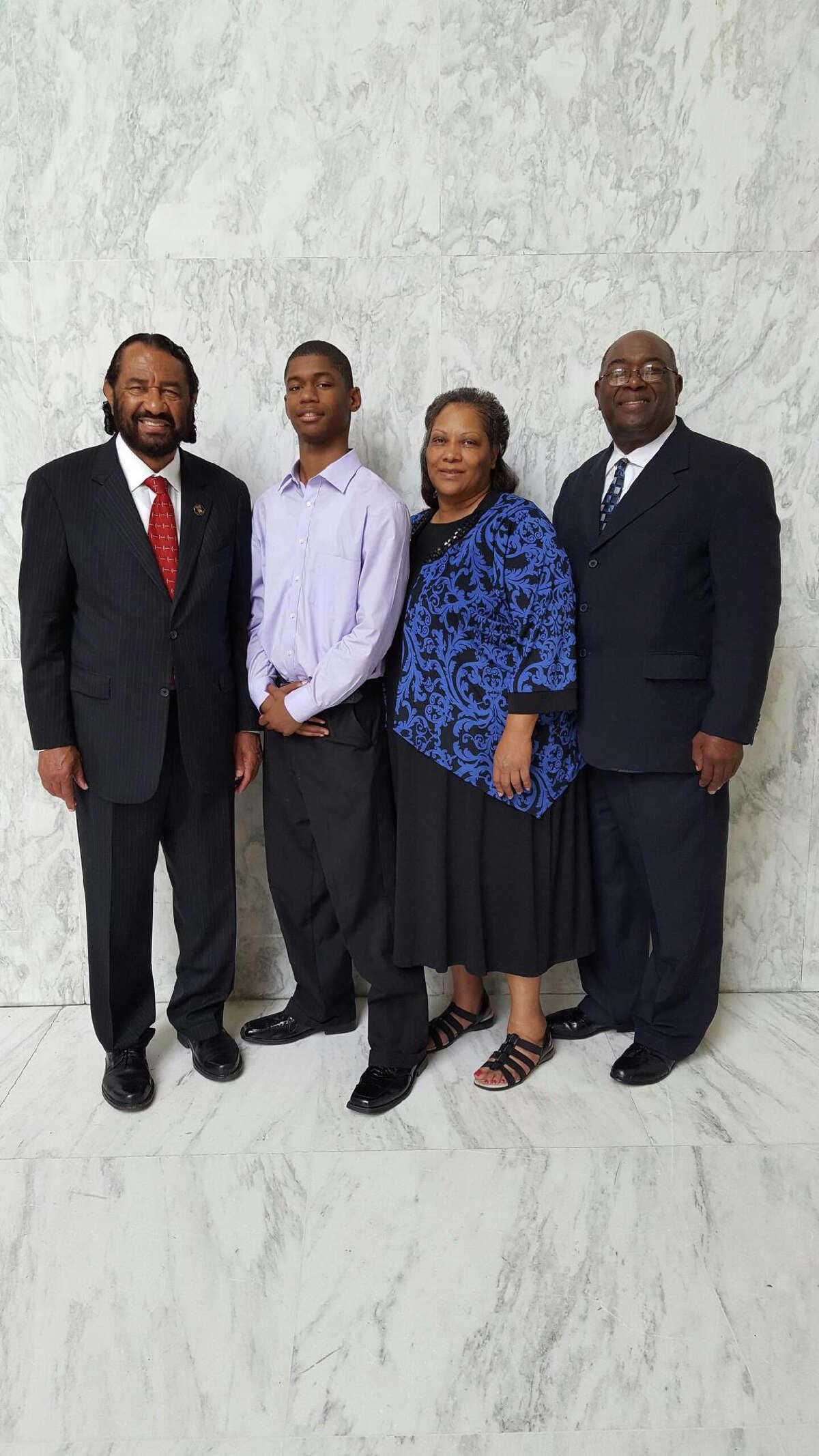 Congressman Al Green, Juqua Gamble, Linda Gamble, and Charles Gamble in Washington, DC during the last weekend of June 2016.