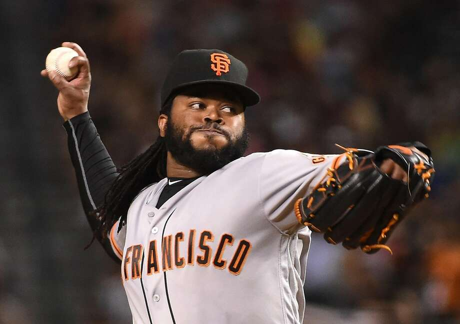 Giants starter Johnny Cueto is in the running to start the MLB All-Star Game on Tuesday for the National League. Photo: Norm Hall, Getty Images