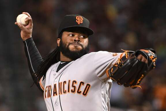 PHOENIX, AZ - JULY 01:  Johnny Cueto #47 of the San Francisco Giants delivers a pitch during the fifth inning against the Arizona Diamondbacks at Chase Field on July 1, 2016 in Phoenix, Arizona. Giants won 6-4. (Photo by Norm Hall/Getty Images)