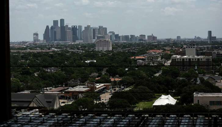 The view from River Oak penthouses at 3433 Westheimer Road, photographed on Tuesday, July 5, 2016, in Houston. ( Elizabeth Conley / Houston Chronicle )