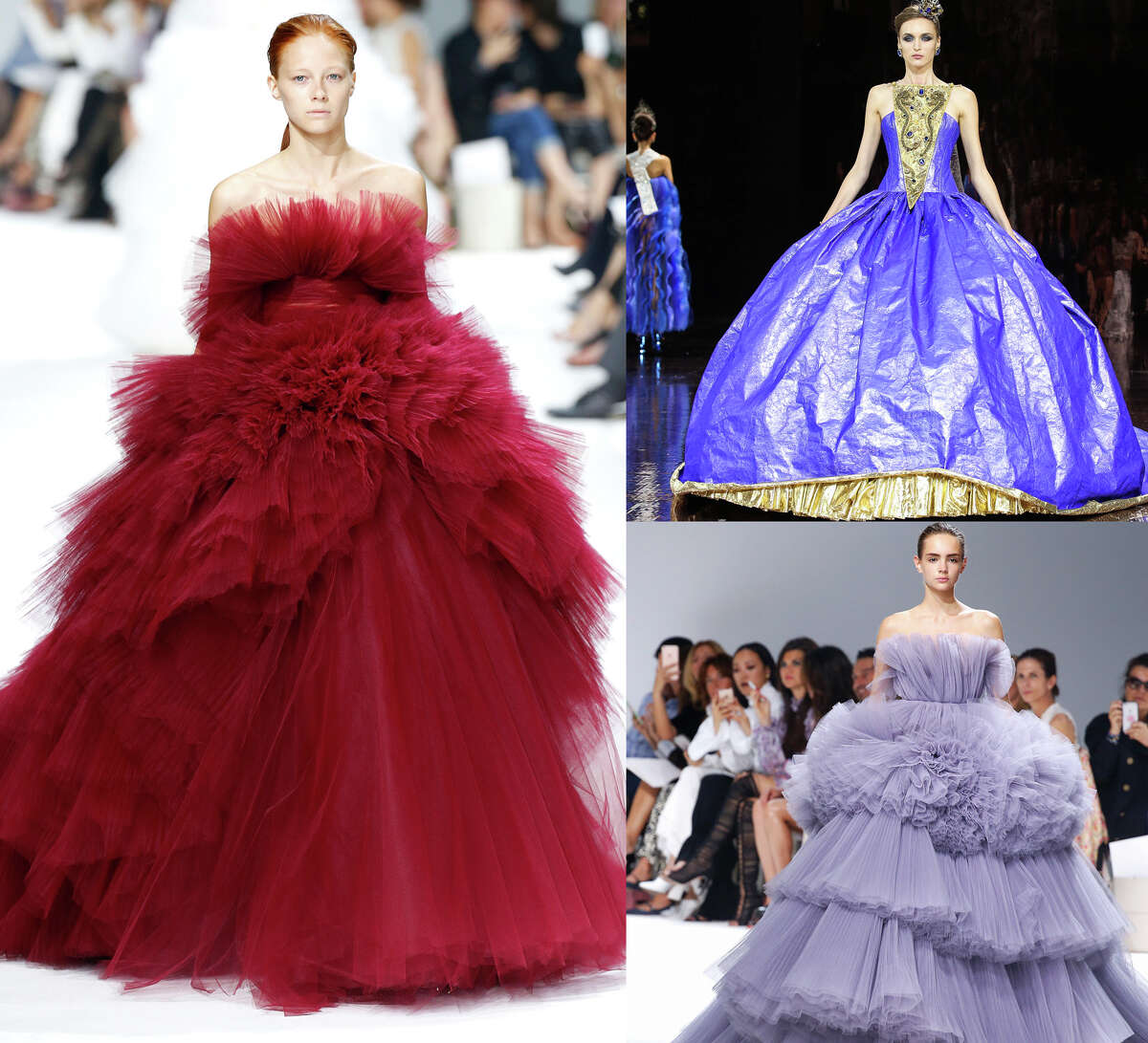 Princess gowns These are straight out of a Taylor Swift video. (Giambattista Valli, Guo Pei)