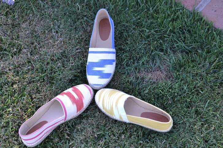 Olasoles, a Menlo Park company with Mediterranean ties, offers espadrilles hand-made in Spain with Mallorcan textiles, for $89-$159 a pair, at www.olasoles.com