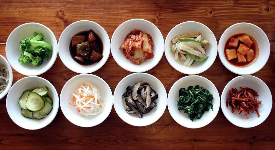 Banchan (small veggie side dishes) from Il Song Garden, one of San Antonio's favorite Korean restaurants for more than a decade. Photo: Express-News File Photo / SAN ANTONIO EXPRESS-NEWS