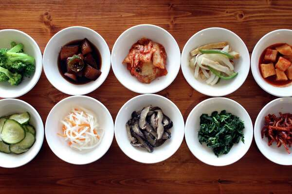 Banchan (small veggie side dishes) from Il Song Garden, one of San Antonio's favorite Korean restaurants for more than a decade.