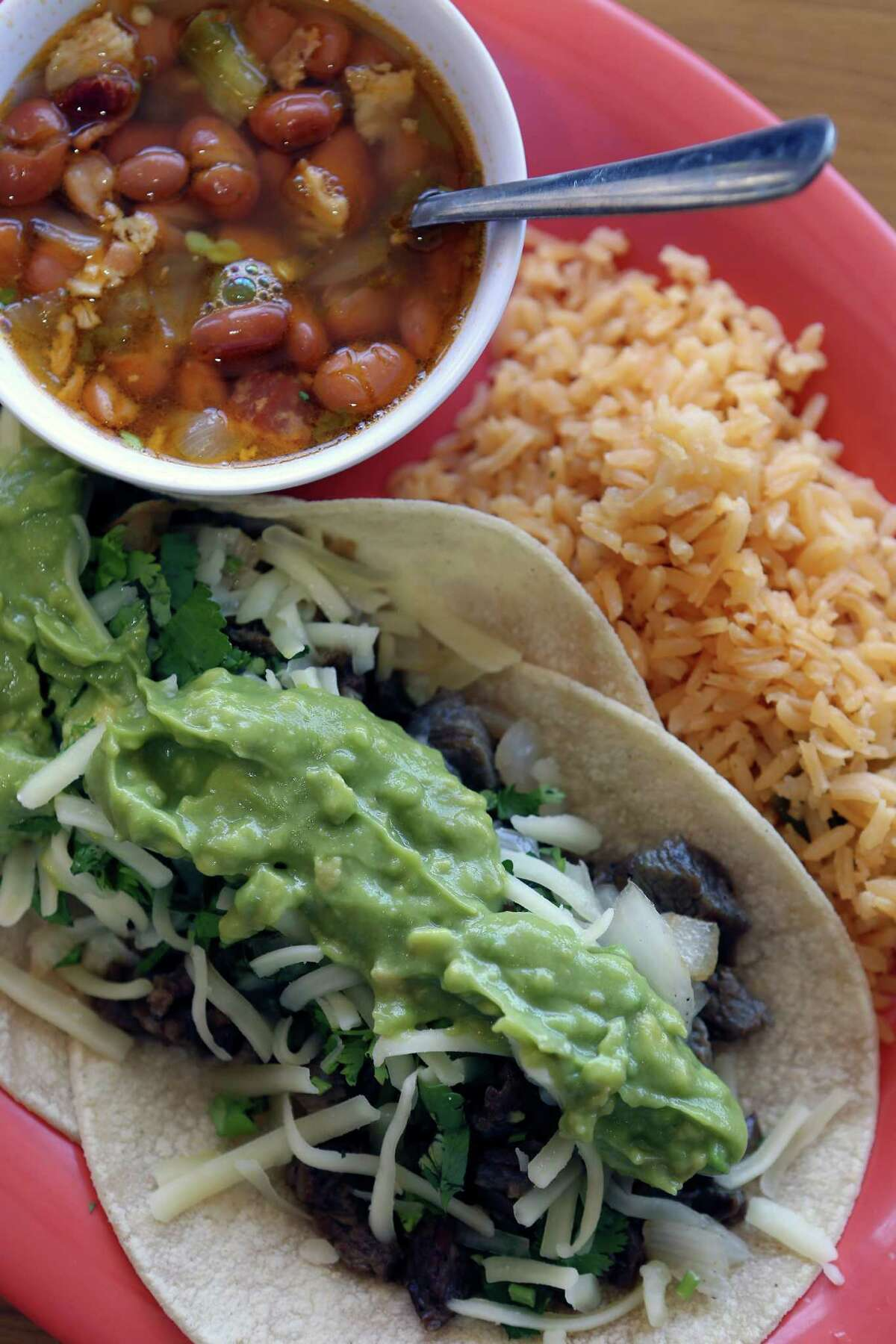 L-Taco Mexican Cafe calls these tacos L Super Street. The restaurant in Stone Oak won Best New Restaurant in the 2016 Readers' Choice Awards.