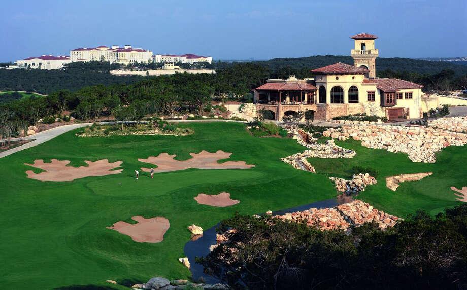 The 18th green at the La Cantera Palmer Course. Photo: Courtesy La Cantera Golf Club