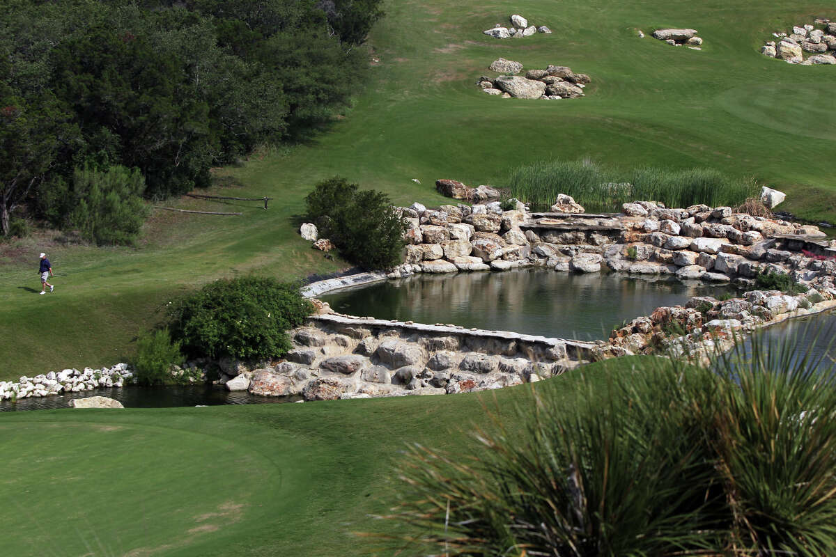 A view from the clubhouse area of La Cantera's Palmer Course.