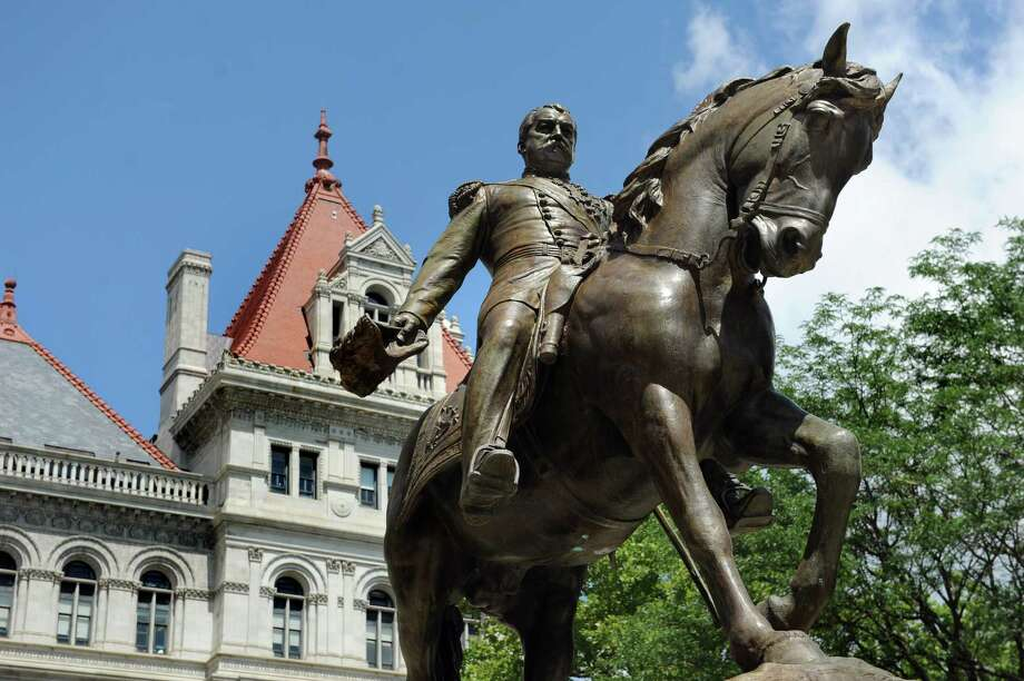 A statue of Philip Sheridan on his horse stands in front of the Capitol on Wednesday, June 24, 2015, in Albany, N.Y. (Cindy Schultz / Times Union) Photo: Cindy Schultz / 00032378A