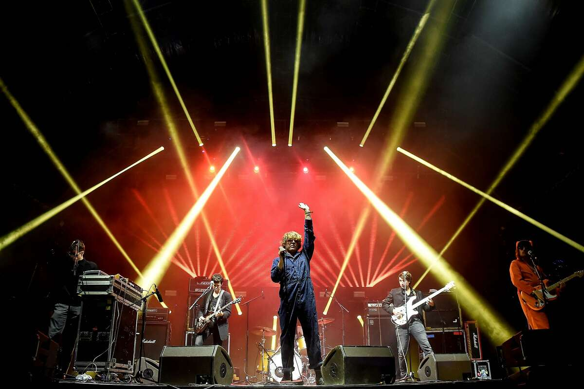 US singer Ty Segall (C) performs on stage during the 28th Eurockeennes rock music festival on July 2, 2016 in Belfort. / AFP PHOTO / Sebastien BozonSEBASTIEN BOZON/AFP/Getty Images