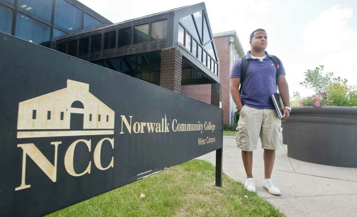 Christian Chaparro of Norwalk attends Norwalk Community College. As state university tuition is on the rise, many students like Christian are opting for community college. Thursday, June 30, 2016