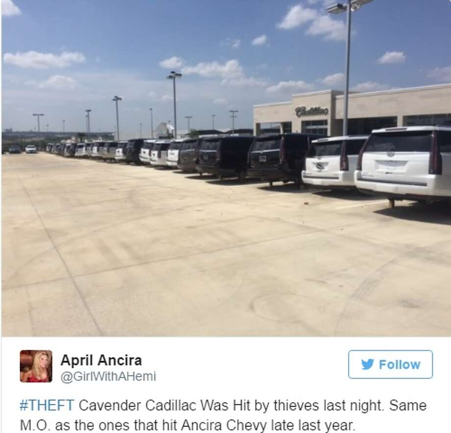Cadillac Dealership San Antonio >> Crime Ring Steals Tires Wheels From 40 Vehicles At Cavender
