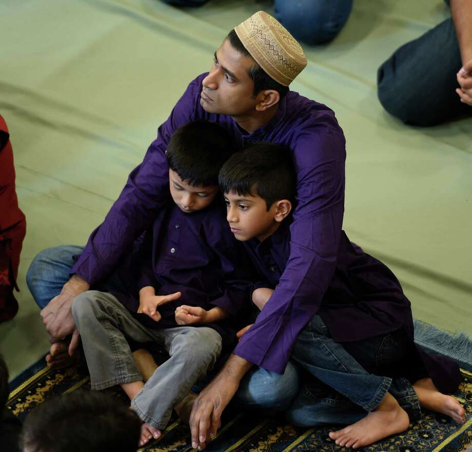 Worshippers of all ages attend the completion of Ramadan at the Islamic Center of the Capital District  July 6, 2016 in Colonie, N.Y. (Skip Dickstein/Times Union) Photo: SKIP DICKSTEIN / 20037190A