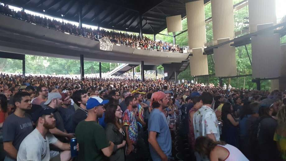 Fans eagerly listen to Phish at Saratoga Performing Arts Center Saturday, July 2. (Gianluca Russo)