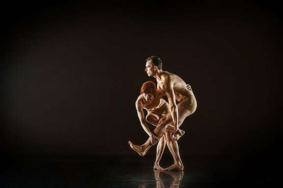 """Ryan T. Smith and Wendy Rein perform duets in """"Double Exposure,"""" a dance with 16 choreographers."""