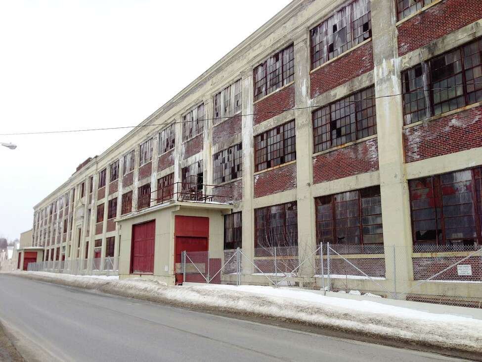 A view of the former GE plant seen here on March 25, 2014 in Hudson Falls, NY. (Paul Buckowski / Times Union)