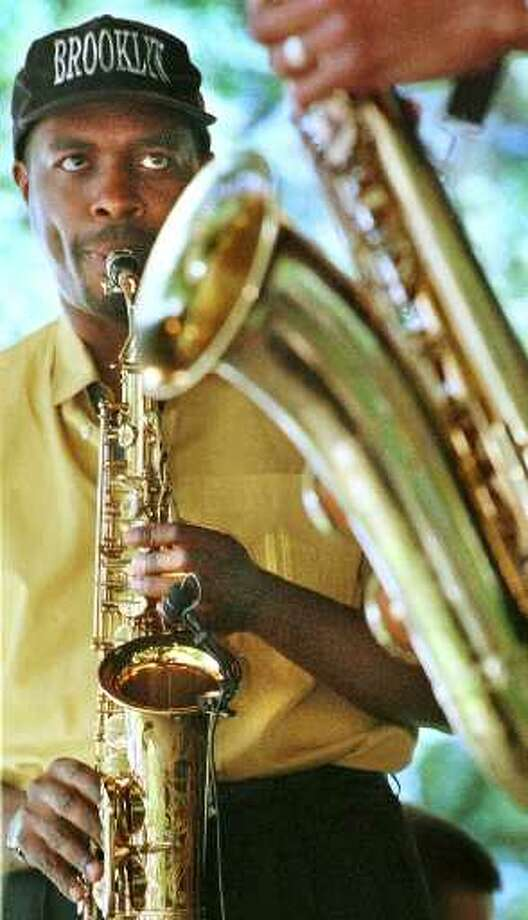 Times Union photo by: MICHAEL P. FARRELL--6/27/98--SA?RATOGA SPRINGS, N.Y. --CRAIG BAKER ON ALTO SAX PLAYS WITH THE BAND TANAREID IN THE GAZEBO AT SPAC DURING THE 1998 FREIHOFER'S JAZZ FESTIVAL IN SARATOGA SPRINGS, SATURDAY.