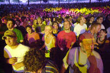 Times Union Photo by James Goolsby June 19, 2004-Phish fans, enjoy the music of the band playing live at SPAC.