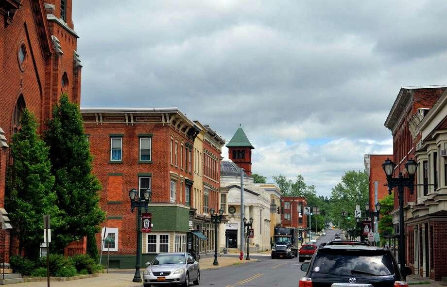 A view of the downtown Gloversville area. (Paul Buckowski / Times Union) Photo: PAUL BUCKOWSKI / 40036919A