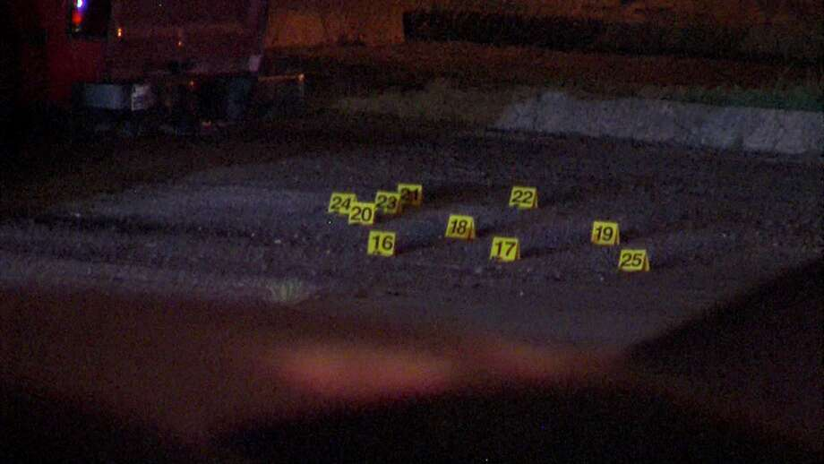 Two men were injured after multiple gunmen opened fire on the North Side on Wednesday morning. Photo: 21 Pro Video