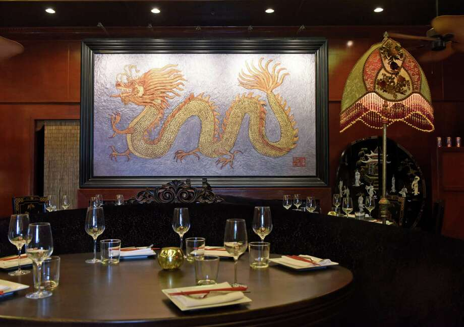 The colorful and decorative interior of WUJI at 68 E. Putnam Ave. in Greenwich. WUJI, which currently has restaurants in Scarsdale and Rye, N.Y., will open its first Connecticut location in Greenwich by the end of next week. Photo: Tyler Sizemore / Hearst Connecticut Media / Greenwich Time