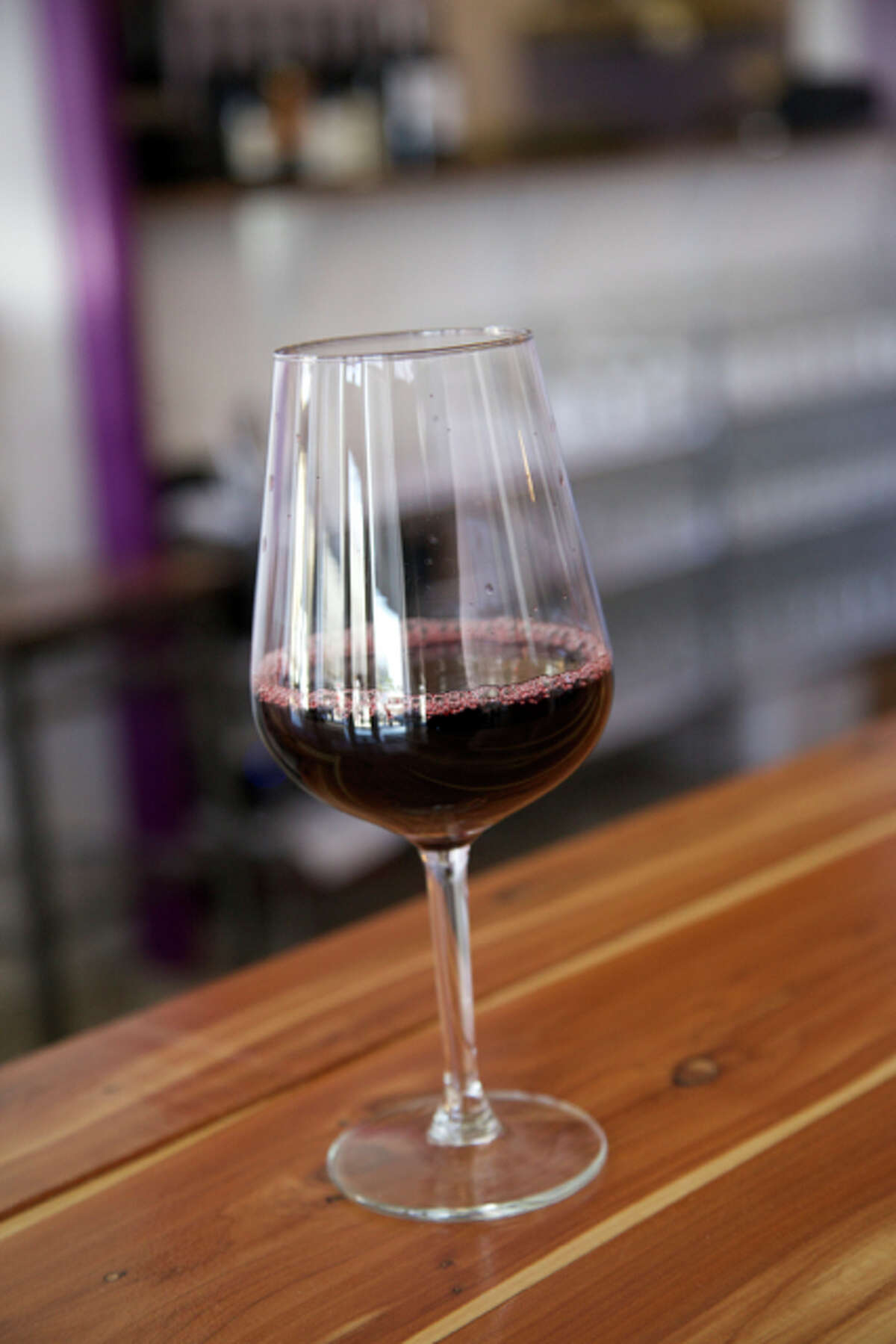 A glass of wine at Nectar Wine Bar & ale House, which got the critic's pick for Wine Selection.