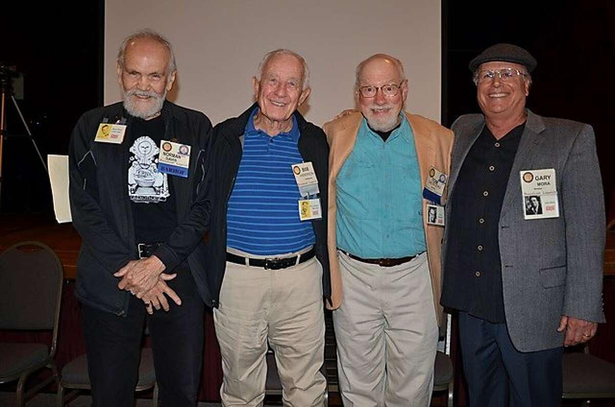 Alums of San Francisco's KYA radio: left to right: Norman Davis, Bob Anderson, Tom Saunders, Gary Mora.
