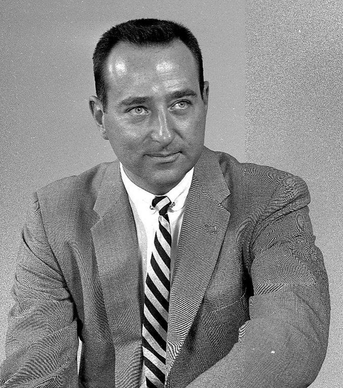 The late Dan Sorkin, longtime SF radio figure, in a 1958 photo.