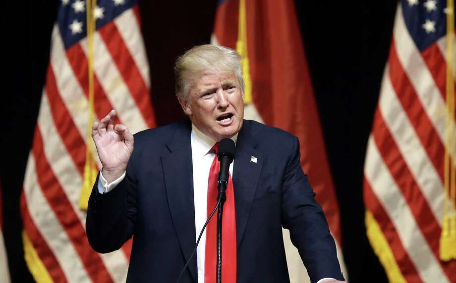 For Donald Trump, reality is a show,  and wild conjecture and playground insults are his strong suit. Photo: Gerry Broome, STF / AP